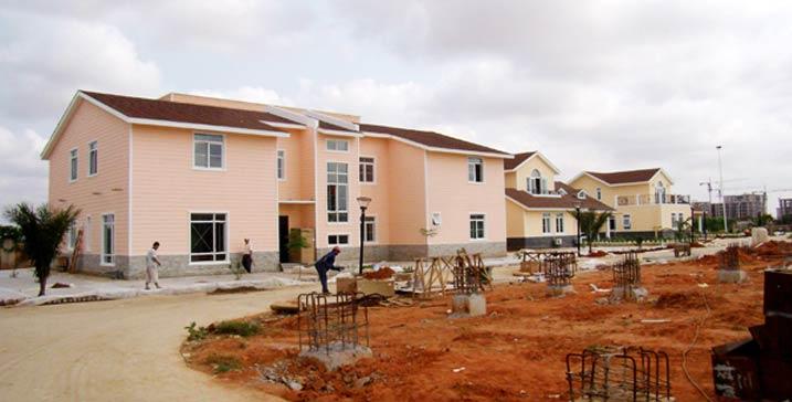 安哥拉中信营地轻钢结构房屋