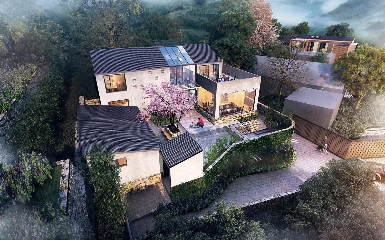 自建别墅设计案例---平谷三小院(2)