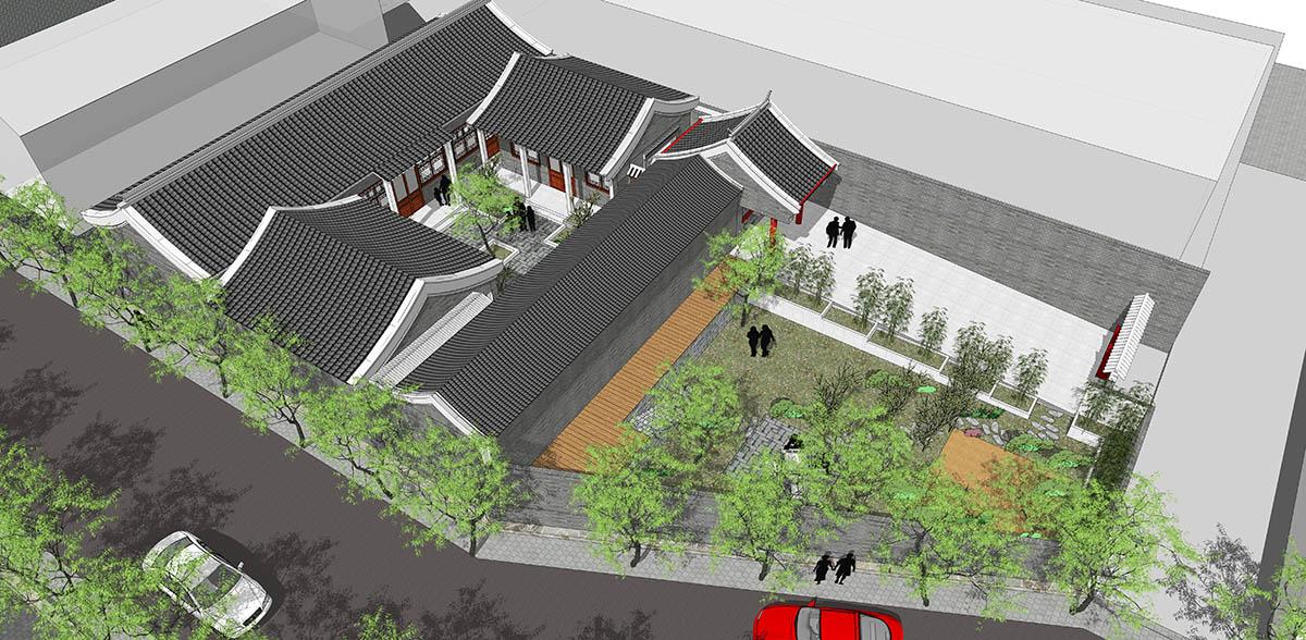 自建别墅设计案例---北京房山新四合院